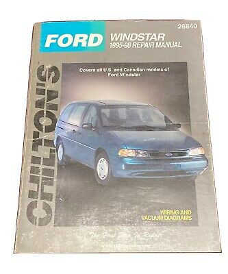 $14.99 • Buy Ford Windstar 1995-1998 Repair Manual - Limited Chilton's 26840