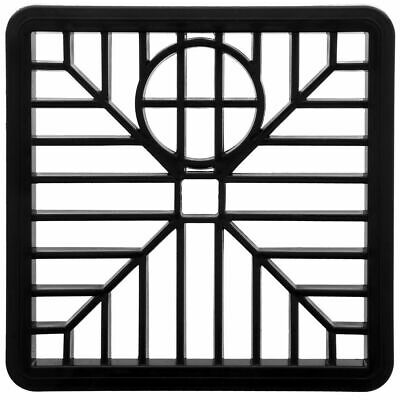 """£2.89 • Buy Drain Cover 6"""" SQUARE 150mm Black Plastic Grate Gulley Grid Leaf Guard Gutter"""