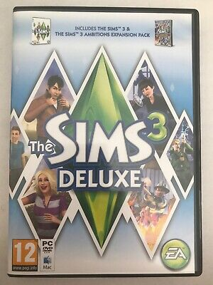 THE SIMS 3 Deluxe With AMBITIONS Expansion Pack PC / MAC UK - TESTED - FREE P&P! • 6.99£