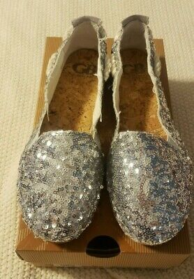 $17.99 • Buy Gianni Bini Silver Womens Sequin Espadrilles Rope Slide Flats Shoes Sz 6.5 NWT