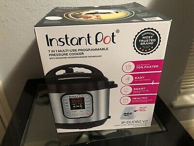 $49.99 • Buy Instant Pot Duo60 6 QT 7-in-1 Multi-use Programmable Pressure Cooker Slow Cook
