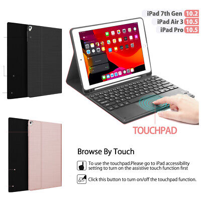 AU58.99 • Buy For IPad 8th/7th Gen 10.2  Bluetooth Keyboard Case Stand With Touchpad Function