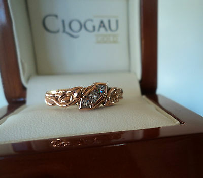Clogau Welsh 18ct Yellow & Rose Gold Tree Of Life 3 X Diamond Ring - Size  L / M • 795£