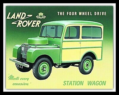 LAND ROVER STATION WAGON 4x4 GARAGE WORKSHOP MAN CAVE METAL SIGN TIN PLAQUE 1323 • 4.99£