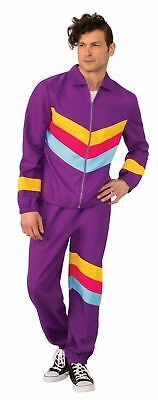Mens 80s Purple Shell Track Suit Scouser Fancy Dress Costume Outfit • 22.99£