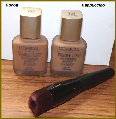 £5.78 • Buy NEW L'oreal Visible Lift Line Minimizing Foundation  #121 Cuppuccino  #122 Cocoa