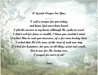 A Special Prayer For You Personalized Poem Gift #1 (For Aunt Thru Granddaughter) • 6.60£