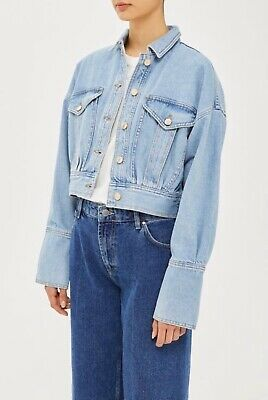 £40 • Buy Topshop Boutique Cropped Denim Jacket Size 8 - New With Tags