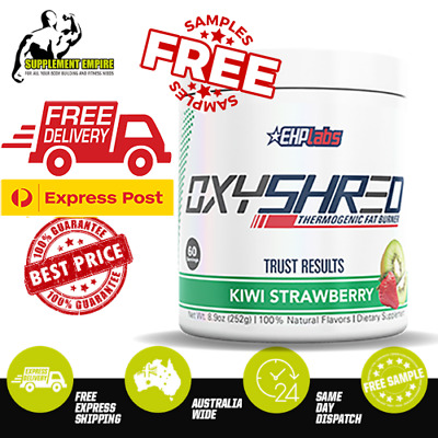 AU79.90 • Buy EHP Labs OxyShred KIWI STRAWBERRY Flavour Thermogenic Fat Burner 60 Servings