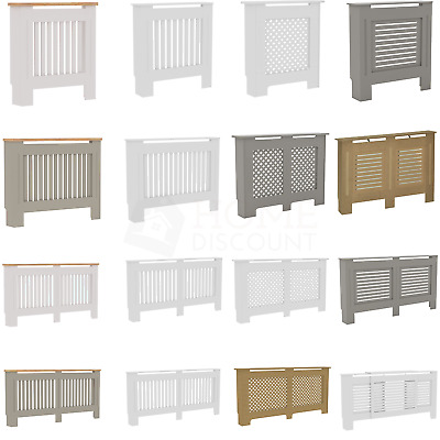 £31.90 • Buy Radiator Cover White Unfinished Grey Modern Traditional Wood Grill Cabinet Shelf