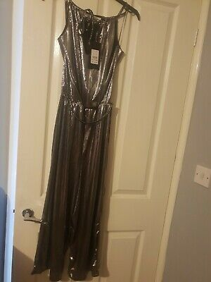 New Look Silver Jumpsuit Size 10 BNWT • 6£