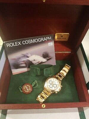 $29999 • Buy 18kt Gold Rolex Daytona Zenith 16528 L Serial 1989 All Factory Mint Condition