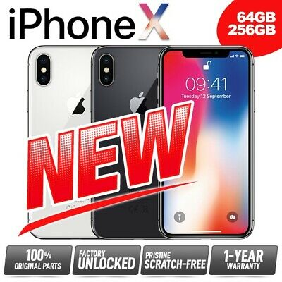 AU749.95 • Buy New Pristine APPLE IPhone X 10 Ten 64GB 256GB Network Unlocked SIM Free