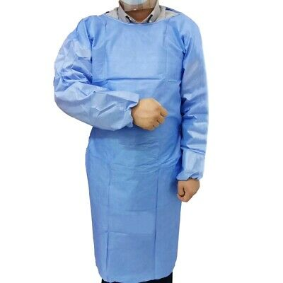 £3.65 • Buy Disposable Protection Gown With Elastic Cuff For Hospital Surgery Overalls