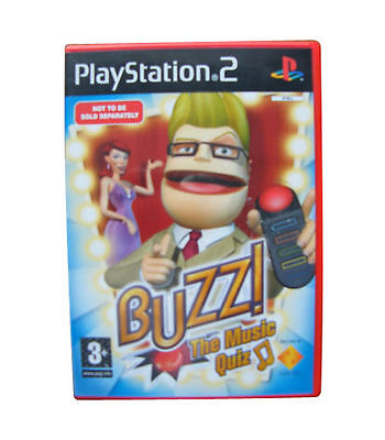 Buzz With Wired Buzzers PS2 PlayStation 2 Video Game Mint Condition UK Release • 39.99£
