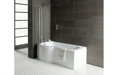 P Shaped Shower Bath With Screen And Front Panel, Left Or Right,1500 1675 1700mm • 377.40£