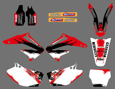 $49.99 • Buy Team Graphics Kits Backgrounds Decals For Honda CRF450R CRF450 2002 2003 2004