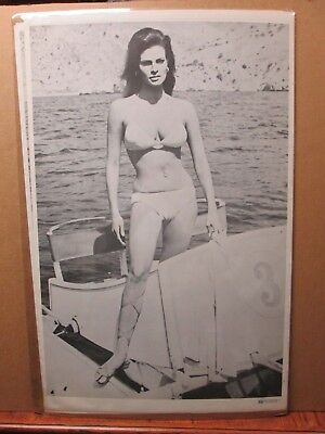 $ CDN63.43 • Buy Vintage Poster Rachel Welch Hot Girl  Black And White  1971 Inv#2825