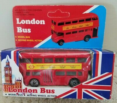 $ CDN18.29 • Buy London Bus Model Bus Moving Wheel Action Red Double Decker New In Box