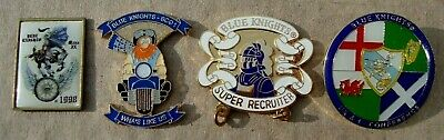 UK Police BLUE KNIGHTS MOTORCYCLE CLUB Tie Tac Pin Badges • 3.99£
