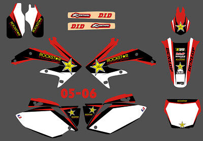 $49.99 • Buy Team Graphics Background Decals Kit For Honda CRF450 CRF450R 2005 2006 2007 2008
