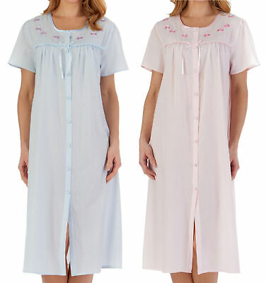 Button Front Hospital Gown Patient Nightdress Ladies Polycotton Floral Nightie • 23.60£