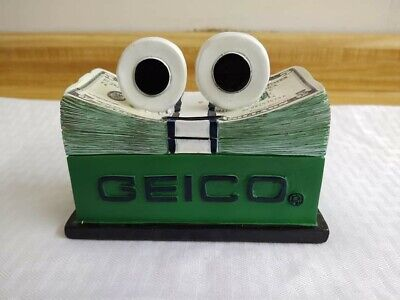 $25 • Buy Vtg. Geico Plastic Coin Bank Money Stack Character.