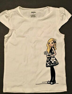 $12.99 • Buy Gymboree BEE CHIC Embroidered Girl SSl White Top ~ Sz 4 ~ NWT!