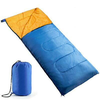 £10.19 • Buy Single Adult Camping Sleeping Bag Envelope With Travel Carry Bag Festival Tent