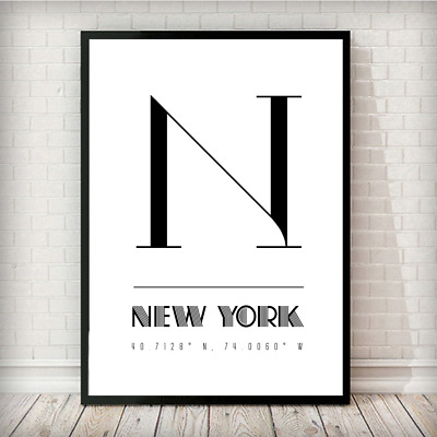 New York United States Of America Coordinates Travel Quote Wall Art Print • 9.99£