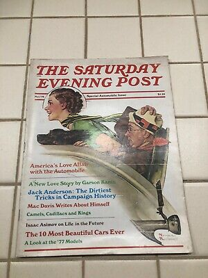 $ CDN19.13 • Buy The Saturday Evening Post Norman Rockwell, Special Automobile Issue Nov. '76