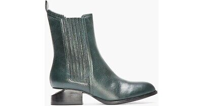 AU560.99 • Buy NEW Alexander Wang Anouck Green Ankle Boots Silver Plate SZ 35 REASONABLE OFFERS