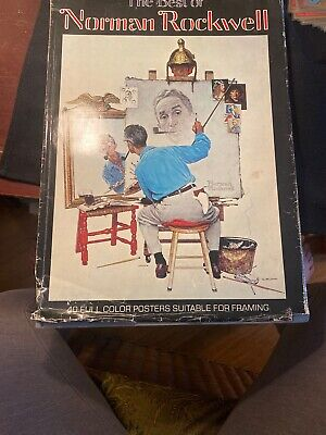 $ CDN6.49 • Buy The Best Of Norman Rockwell HCDJ Michael Schau 40 Full Color Posters 1979