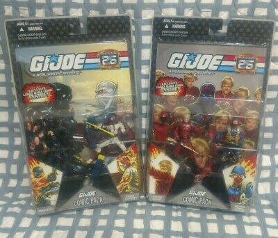 $ CDN63 • Buy GI Joe 25th Cobra Officer Crimson Guard Snake Eyes Storm Shadow Comic 2pack Lot
