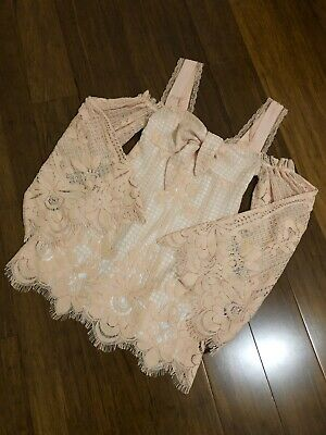 AU85 • Buy Peach Alice McCall Lacey Spread Your Wings Dress Aus Size 8