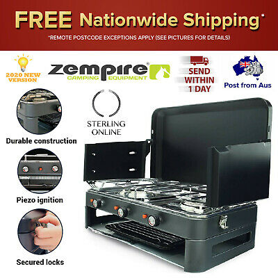 AU190.67 • Buy Deluxe 2 Burner Grill Stove Portable Gas Stove Kitchen Picnic BBQ Heating