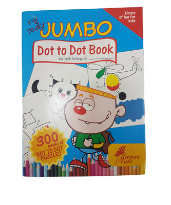 BORED CHILDREN HOME OFF SCHOOL 300 Page A4 Dot To Dot Colouring Book PUZZLES  • 2.95£