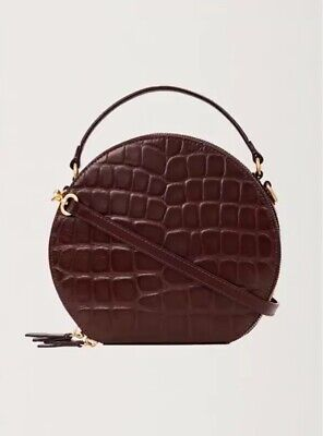 AU149 • Buy RARE! Oroton Limited Edition Scenic Medium Circle Bag Brown Mock Croc Leather