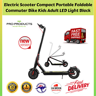 AU448.97 • Buy Electric Scooter Portable Foldable Compact Commuter Bike Adult Kids LED Light