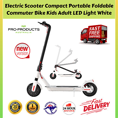 AU479.97 • Buy Electric Scooter Compact Portable Foldable Commuter Bike Kids Adult LED Light WH