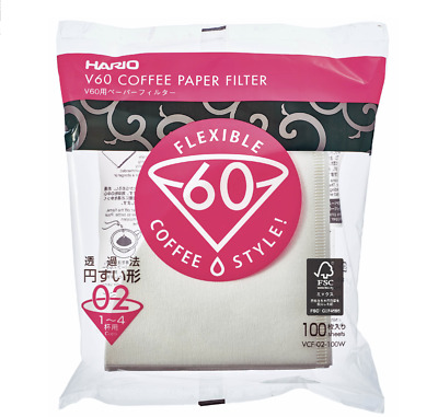 AU19.99 • Buy Hario V60 Coffee Filter Paper 02 Size - 100 Pack Pour Over O2 Drip