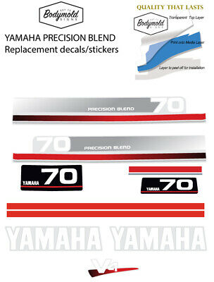 AU110 • Buy YAMAHA 70hp PRECISION BLEND  Replacement Outboard Decals