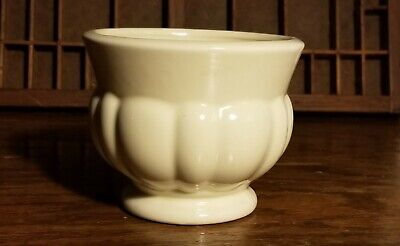 $32 • Buy Vtg Pedestal Planter Haeger Art Pottery Ivory Flower Pot MCM Cachepot