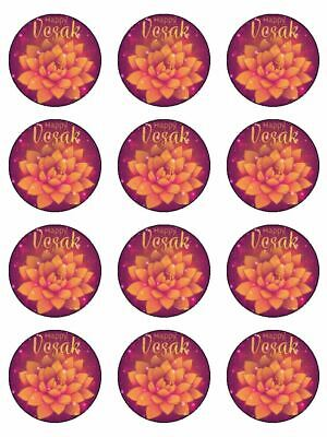 £3.49 • Buy Happy Wesak Religious Festival Edible Cupcake Toppers Wafer Or Icing X 12