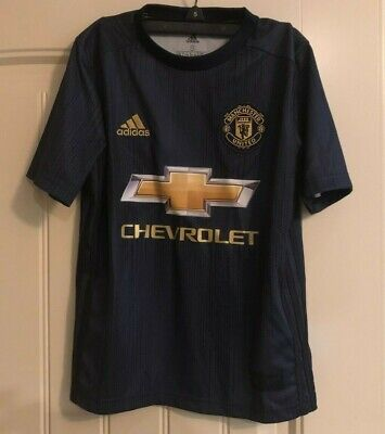 $29.99 • Buy NWT Adidas Youth Manchester United Soccer Futbol Jersey - Navy - Sz SMALL - $70