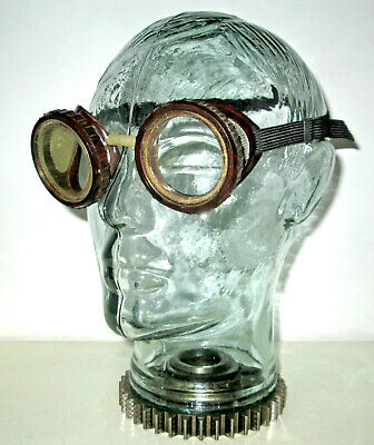 $39.99 • Buy Antique Dockson Goggles Safety Glasses Vtg Old Rockabilly Dieselpunk Steampunk