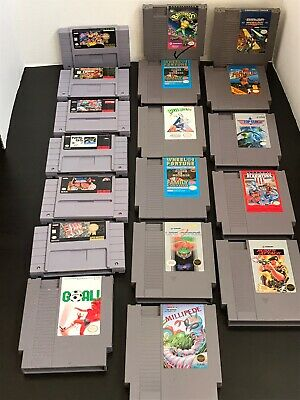 $ CDN39.49 • Buy Lot Of 18 Assorted Nintendo NES & Super Nintendo SNES Games Lot.
