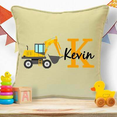 Personalised Birthday Gifts For Teenage Boys Teens Kids Digger Cushion #25 • 11.99£