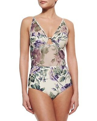$120 • Buy ❤ NWT355$ Zimmermann Lucia Mesh One-Piece Swimsuit, Floral Sz 6 Stunning ❤