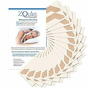 AU73.50 • Buy ZQUIET Chin-UP Sleep Strips, Anti-Snoring Adhesive Chin Strips (60ct. _ 60 Day S